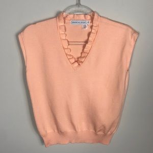 Vintage Givenchy Sport Shortsleeved Peach Sweater
